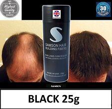 HAIR THICKENING FIBRE JAR Hair Loss - BLACK - Concealer Fiber SAMSON Thickener