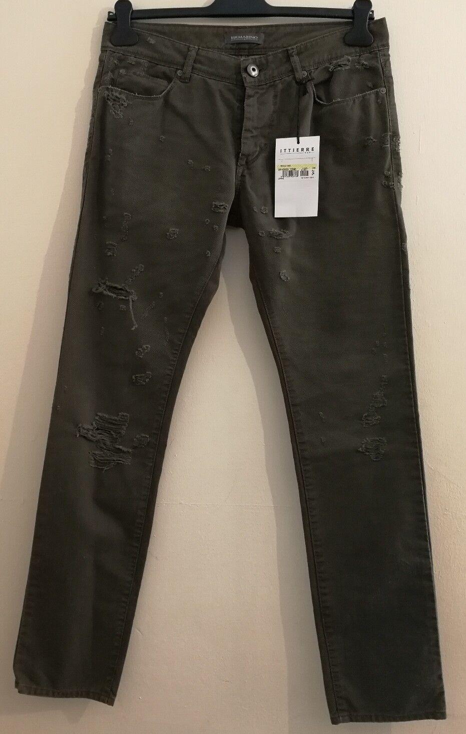 ERMANNO SCERVINO Distressed Men's Jeans Army Größe uk 32 W 33L