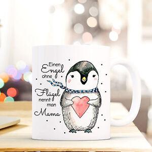 Geschenk- & Werbeartikel Ehrlich Tasse Becher Kaffeetasse Pinguin Mit Spruch Mama.. Ein Engel Ohne Flügel Ts427 Mit Traditionellen Methoden