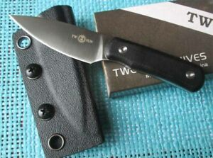New TwoSun Outdoor Micro S90V Fixed Blade Kydex Belt Sheath G10 Knife TS150-Back