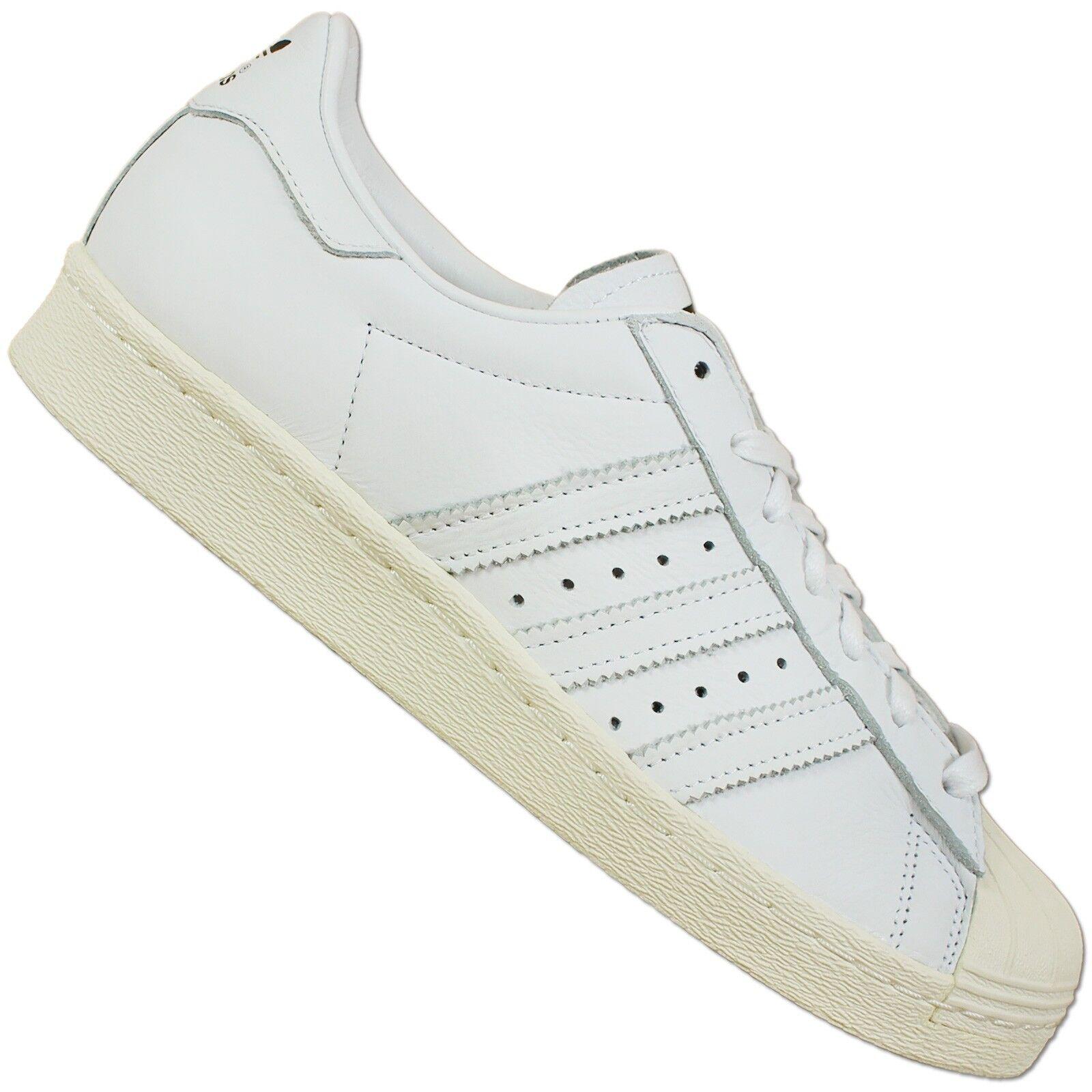 Adidas superstar 80 Deluxe Femmes Chaussure Basket Chaussures en Cuir Rétro Blanc 36 2/3 UK 4