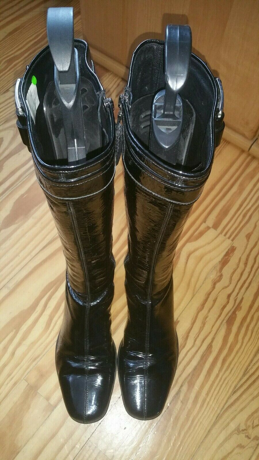 PRADA  Luxus  Stiefel Naplak Lackleder black  Gr. 38 black  NP