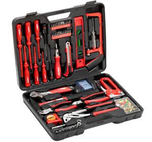 MEISTER 60tlg Werkzeugkoffer Werkzeugkiste Steckschlüssel Werkzeugkasten 6820331