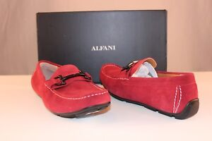 Alfani-James-Red-Suede-Driver-Slip-On-Loafers-Moccasins-Mens-Multi-Size-NIB-TFI