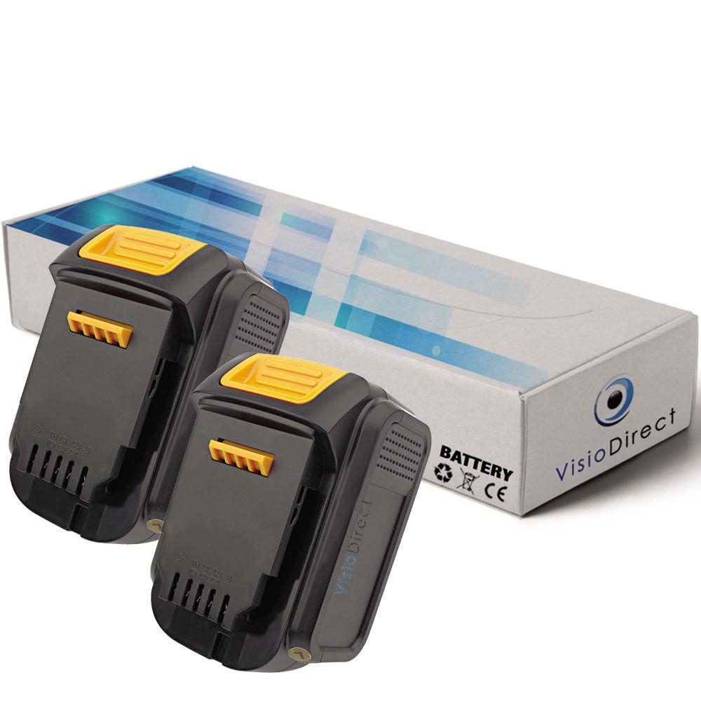 Lot de 2 batteries 14.4V 3000mAh pour Dewalt DCL030 - Société Française -