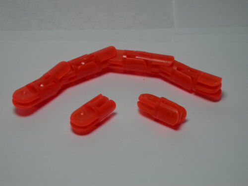 LEGO 10 Straight Arm Pieces with 2 and 3 Fingers Trans-Neon Orange