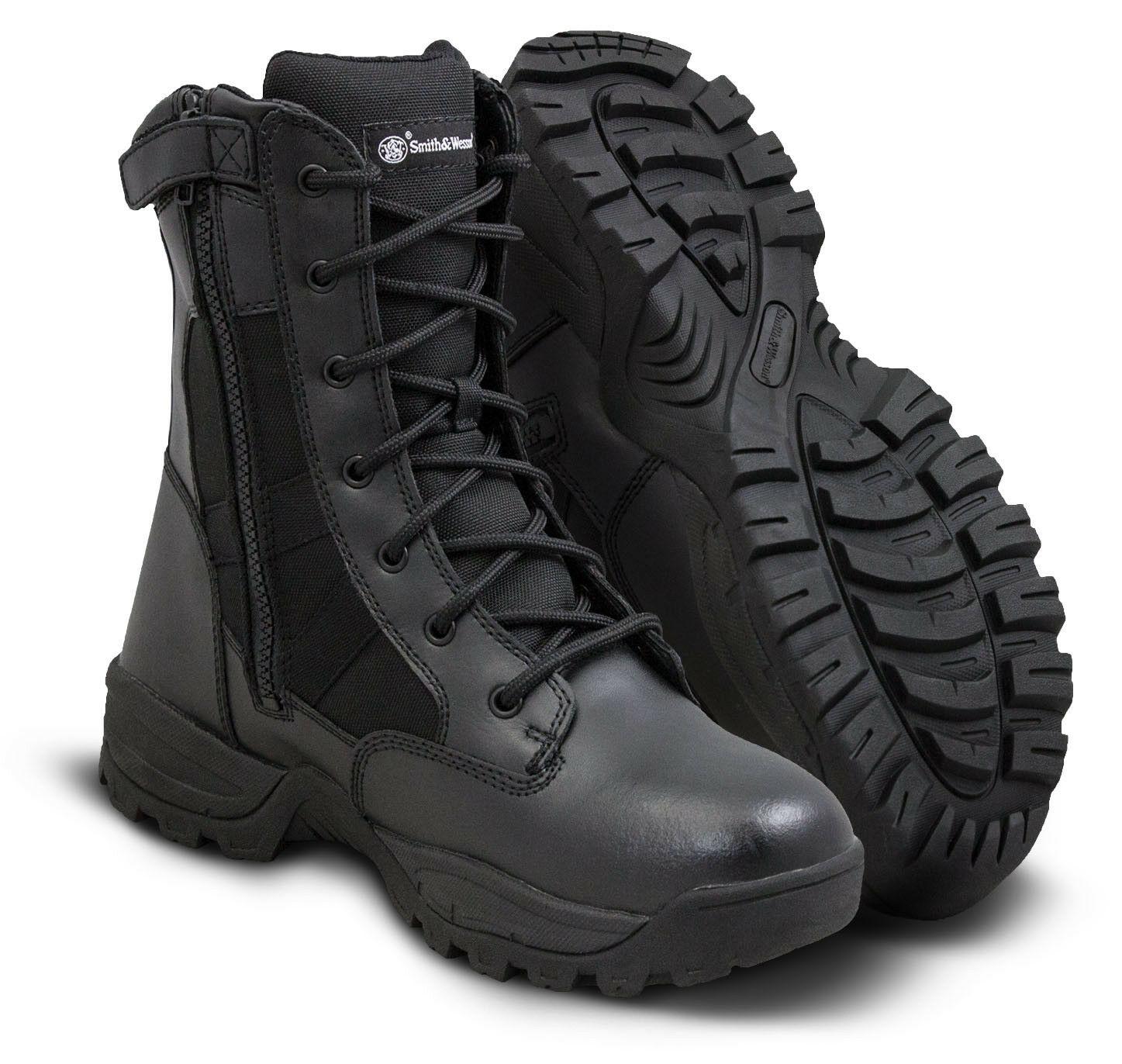 Smith & Wesson Breach 2.0 Impermeable 8  Cremallera Lateral botas Negras