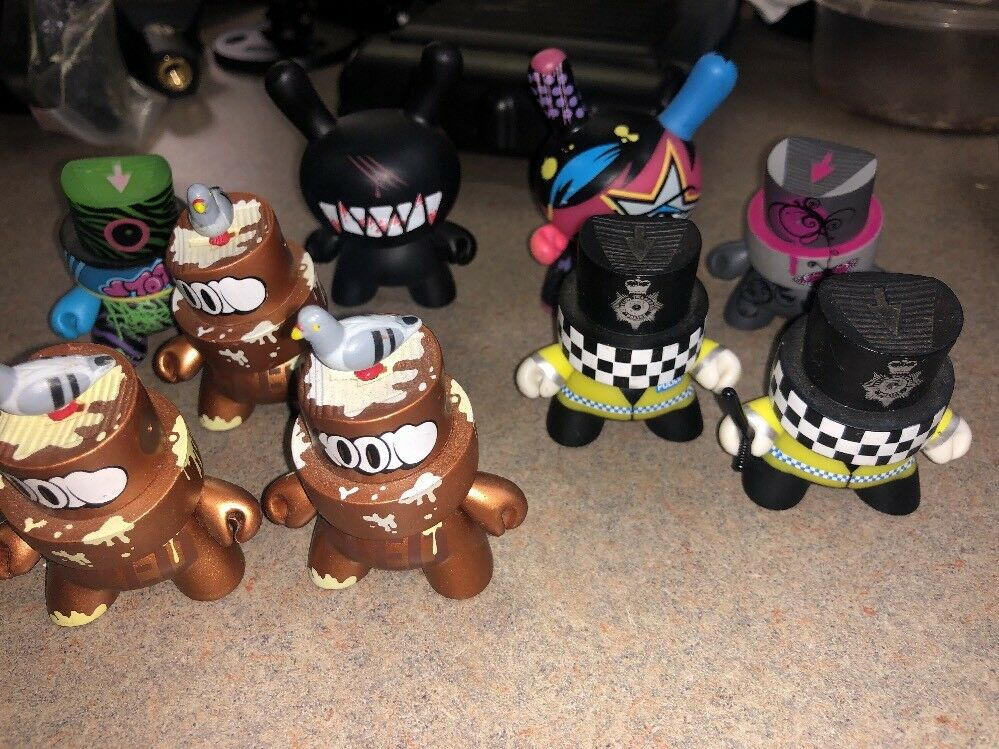 Kidbot FATCAP SERIES and Kidbot TooFly Figure Lot of 9