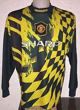 Manchester United 95-96 Away Goalkeeper Football Shirt Sharp Rare Vintage Umbro