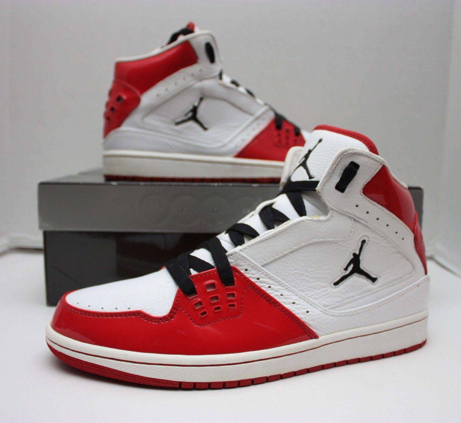 Nike Air Jordan 1 Flight Size 11 White - Chicago Home - White 11 Red Black - 372704 101 10222b