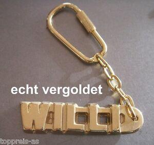Obligatorisch Edler SchlÜsselanhÄnger Willi Vergoldet Gold Name Keychain Weihnachtsgeschenk Eine VollstäNdige Palette Von Spezifikationen Luxus-accessoires