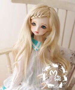 Bjd Doll Wig 1//6 6-7 YOSD BB  LUTS Dollfie blonde curl Hair