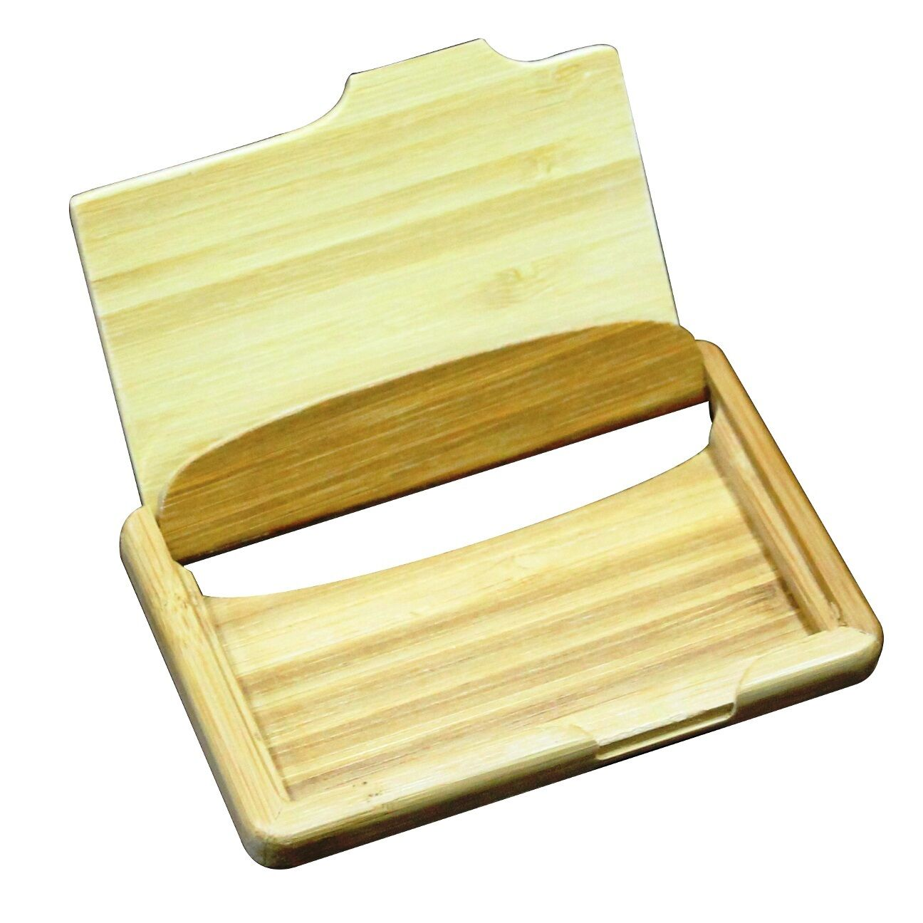 Personalized wood bamboo business card holder custom for Bamboo business card holder