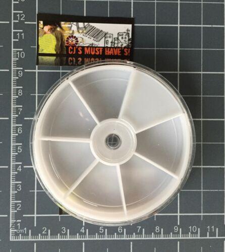 Vide roue Box plateaux Nail Art perles Loisirs conteneur de stockage affichage UK stock!