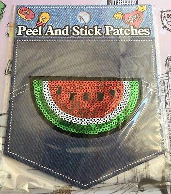 SMTBT117 Watermelon Sequins Applique Reversible Sequin Patches Glitter Sew on Applique Cloth DIY Garment Accessories Decorative Patch