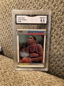 1987-Fleer-Isiah-Thomas-2nd-Year-Graded-8-5