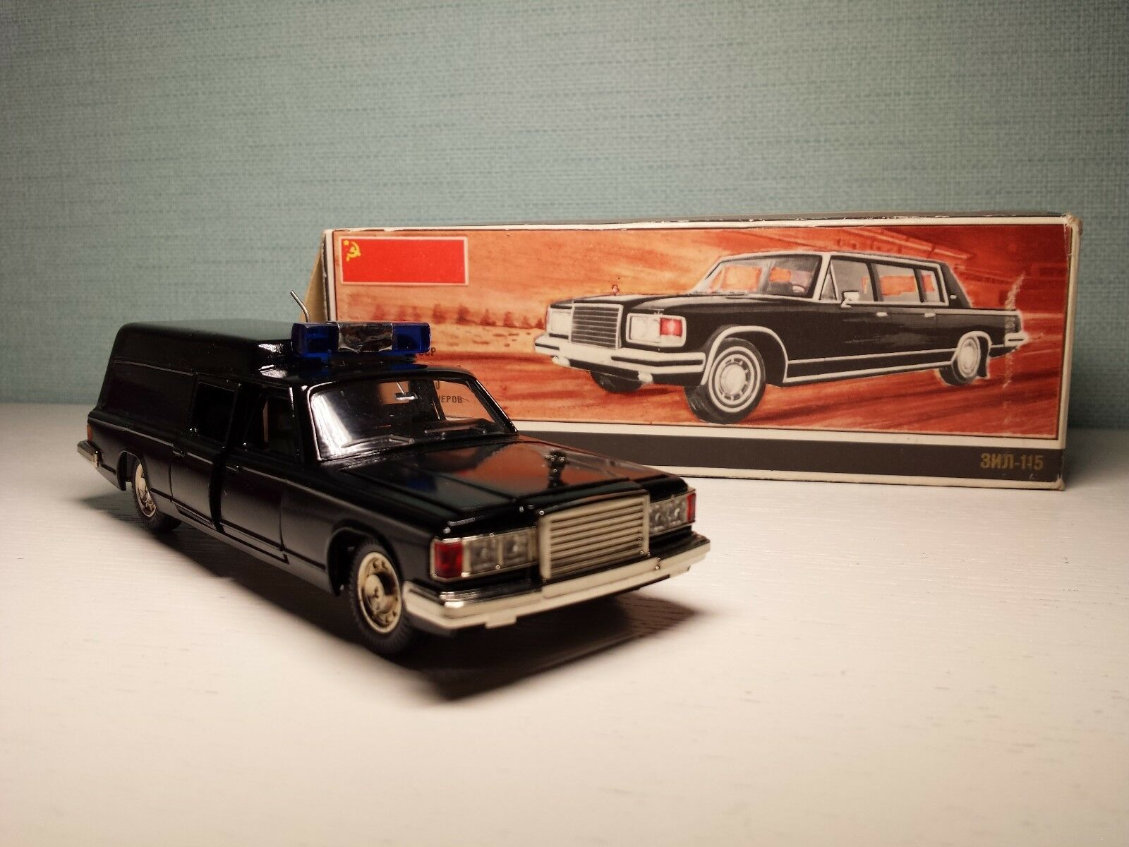 Very rare ZIL-115 1 43 Hearse Ambulance Made in USSR