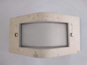 Applique per esterno stonage targetti in pietra e vetro 2xpl 9w ebay