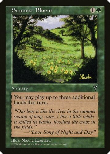 Summer Bloom Visions NM Green Uncommon MAGIC THE GATHERING MTG CARD ABUGames