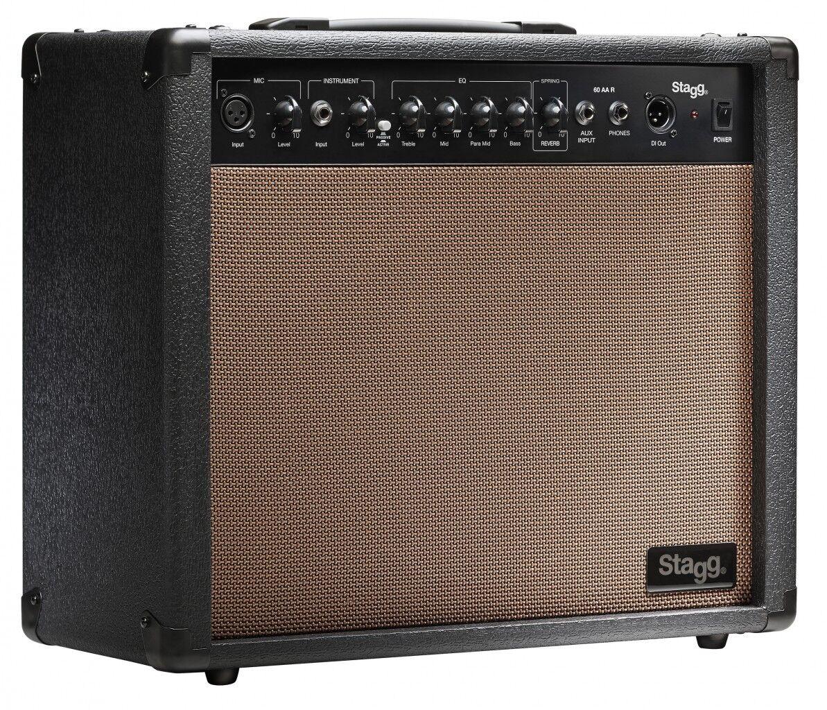 Akustik-Verstärker ACOUSTIC Amp  Lautsprecher 10  60W mit Federhall für Gitarre