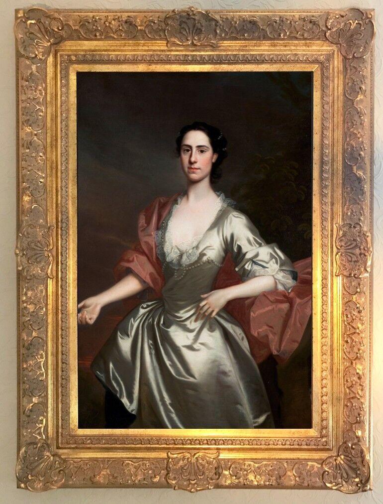 'Portrait of a lady' - 30 x 20  gilt framed giclée print - period country house