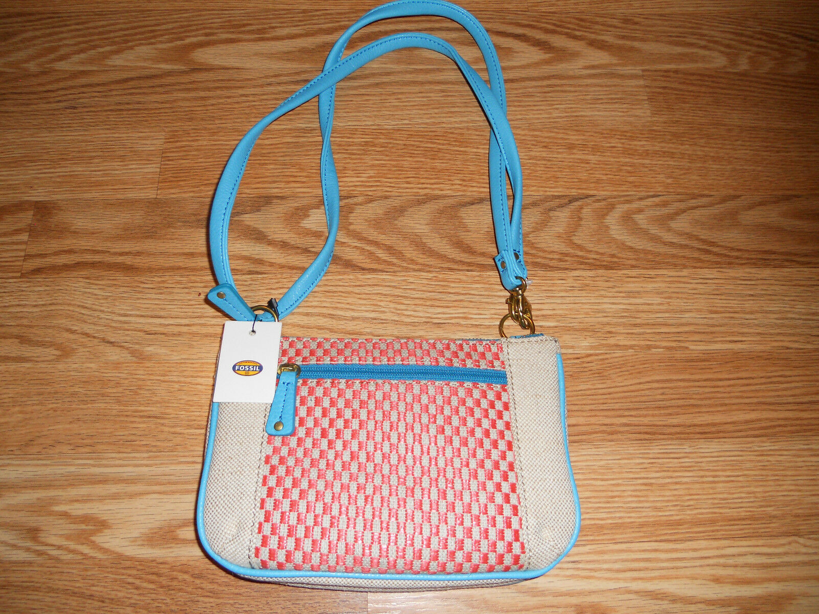 Fossil Kira Top Zip Coral Multi Mini Shoulder Bag Ebay Keely Tote Canvas Norton Secured Powered By Verisign