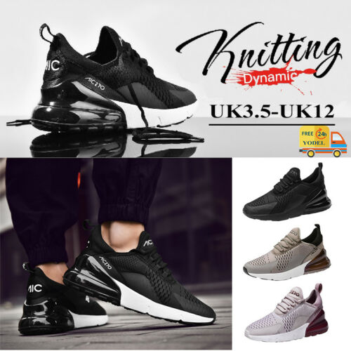 UK Womens Mens sport Shoes Breathable Comfy Gym Running Trainers Sneaker AIR 270