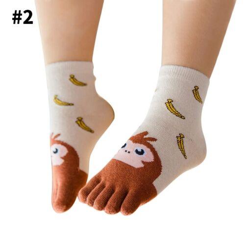 Soft Kids Five Fingers Toe Socks Cotton Blend Socks Chidren Lovely New Year Gift