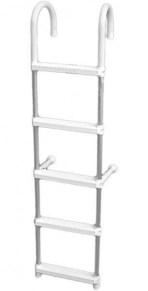 Alluminio KlappBadeleiter Gamma 5 Livelli Scaletta Posteriore Nuovo 7362