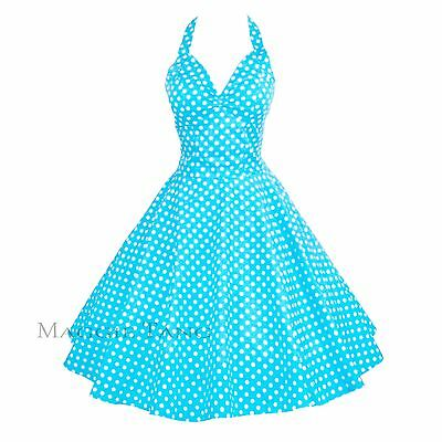 Maggie Tang 50s Pinup VTG Retro Rockabilly Polka Dot Housewife Swing Dress K-501