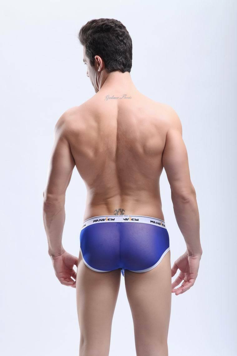 Slip mini mini Slip boxer Talla L  Azul transparent  Manview by NEOFAN sheer sexy ™ M04 e97c9b