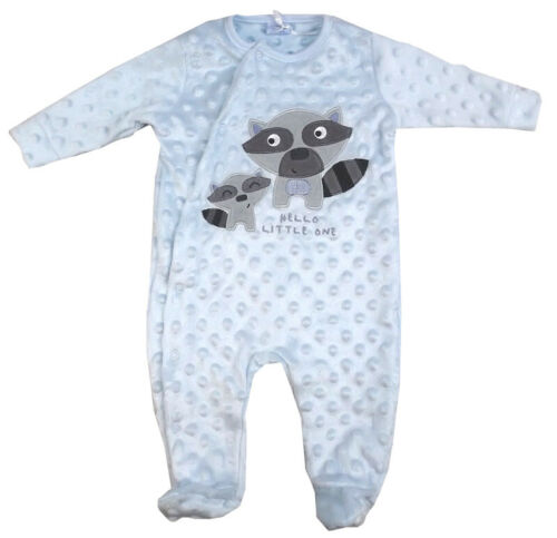Nuevo Bebé Niños mapache Diseño Blue Bubble Terciopelo Pelele Mono Traje