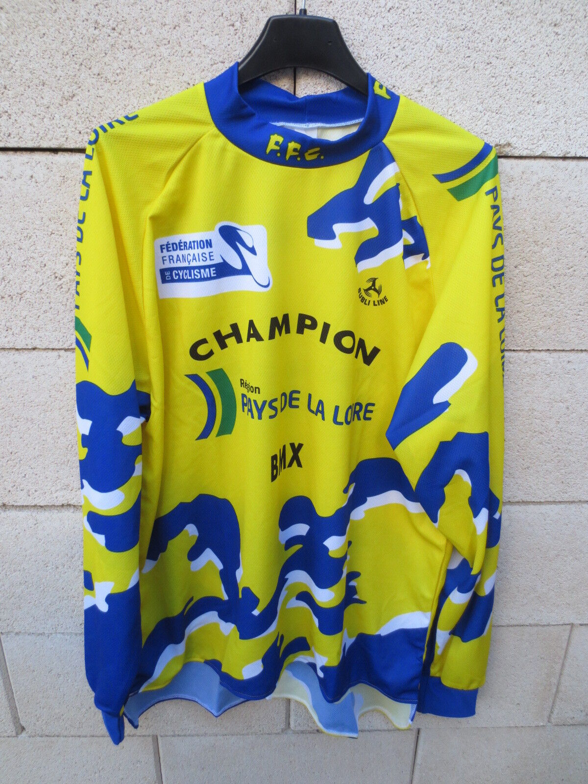 Maillot CHAMPION BMX Pays de la Loire Fédération Française cycliste Subli Line L