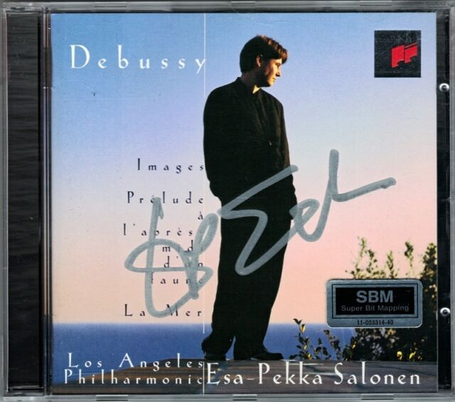 Esa-Pekka SALONEN Signiert DEBUSSY La Mer Images Prelude a l'apres-Midi SONY CD