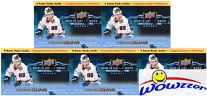 5-2018-19-Upper-Deck-Series-2-Hockey-Factory-Sealed-Blaster-Box-10-YOUNG-GUNS