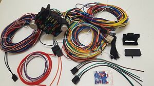 gearhead 1961 66 ford pickup truck universal wiring kit wire harness universal steering column image is loading gearhead 1961 66 ford pickup truck universal wiring