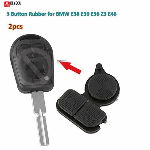 2pcs New Remote Shell Case Key 3 Button Rubber for BMW E38 E39 E36 Z3 E46