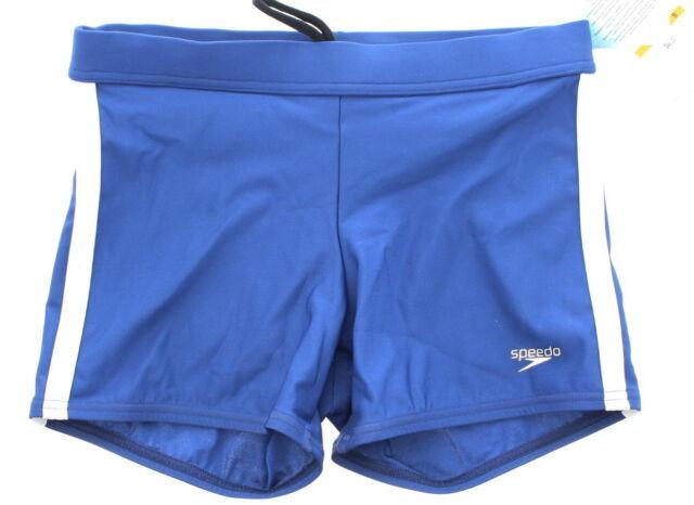 7da816f73c Speedo Mens Xtra Life Lycra Shoreline Square Leg Swimsuit Nautical Navy  Small
