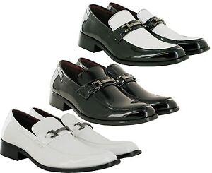 Completamente-Nuevo-Hombre-Inteligente-Formal-Zapatos-Tacon-Bajo-Hebilla-de-boda-tamano-de-Reino