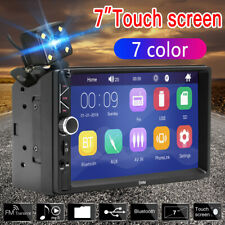 """7 """" Double 2 DIN Car FM Stereo Radio USB MP5 MP3 Player Touch Screen Bluetooth P"""