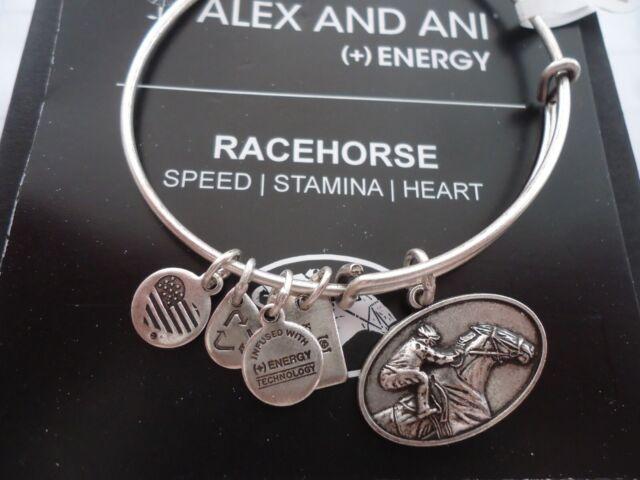 6b27e8f9d8c0f3 Alex and Ani Russian Silver Kentucky Derby Race Horse Charm Bangle Bracelet