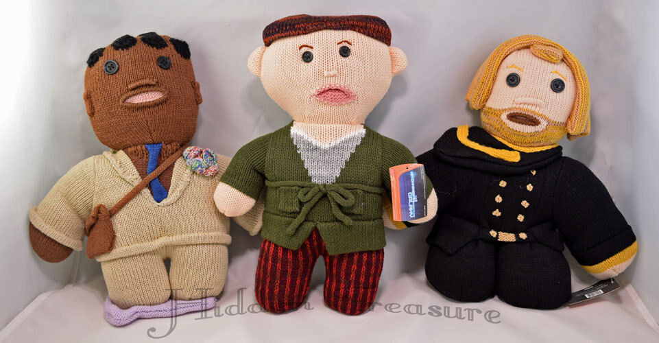 NECA Hitchhiker's Guide To The Galaxy 12  Plush Dolls ARTHUR, FORD, ZAPHOD Set