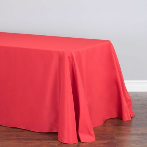 33 Colors LinenTablecloth 90 x 132 in Rect Poly Tablecloths Wedding Event