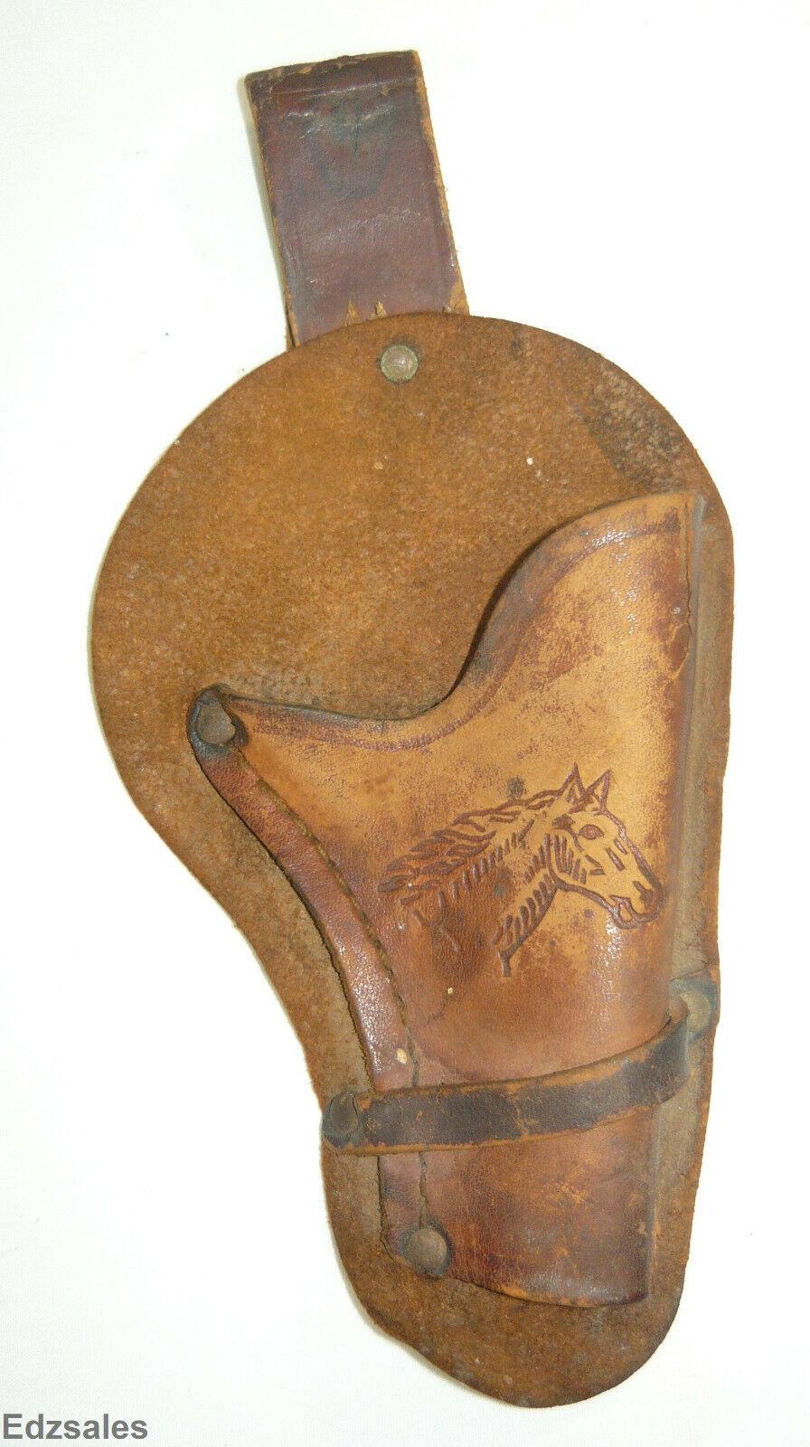 Vintage Leather Cowboy Western Toy Gun Holster