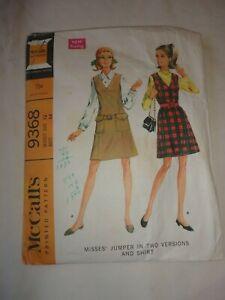Vintage 1968 Sewing Pattern Jumper & Shirt Size 12