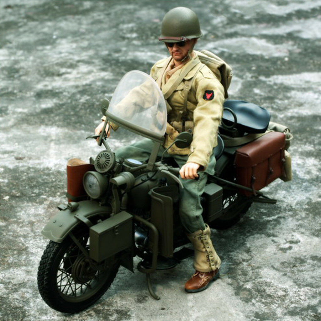 1 6 WWII US Army Motorcycle for 12'' Captain America Figure Hottoys Sideshow