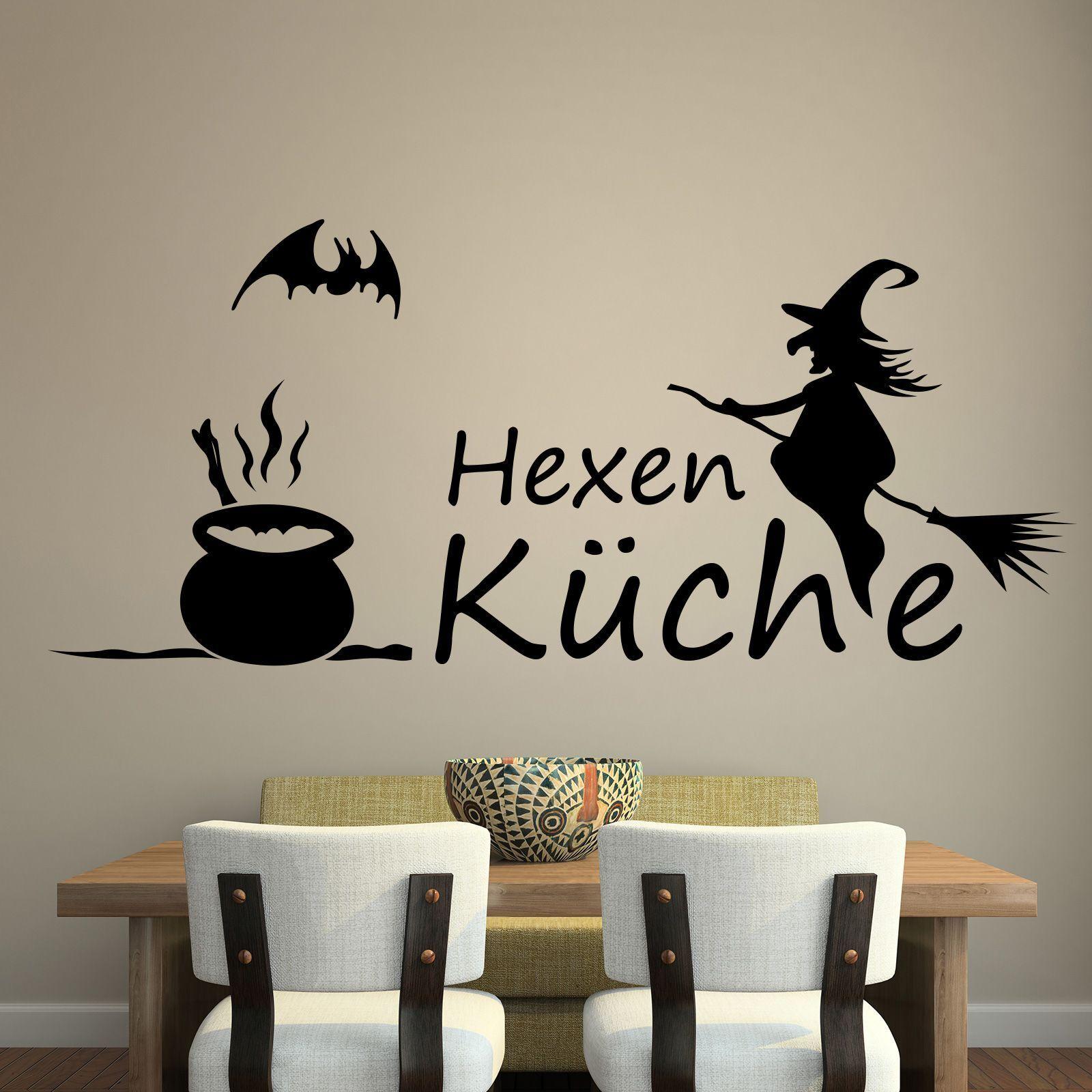 Hexenkuche 3 Kuche Hexen Wandtattoo Spruch Aufkleber Tattoo Folie Children S Bedroom Boy Decor Decals Stickers Vinyl Art Home Decor