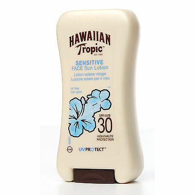 Hawaiian Tropic Sensitive Face Sun Lotion High Protection SPF 30 120ml