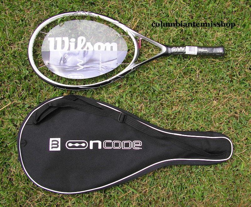 Two New Wilson Ncode NW W2 negro Whisper 117 Racket no case 4 1 2 (4)