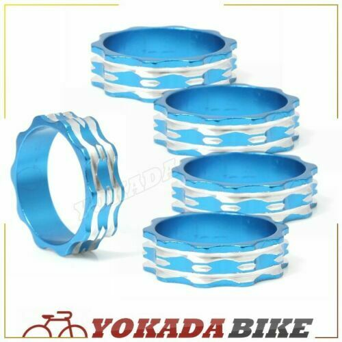 "Bike Cycle CNC Alloy Fiber Headset Spacer 1 1//8/"" Three Colors 5PCS"